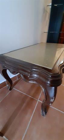 Mesa vintage com tampo em mármore