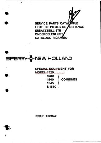 Katalog części kombajn Clayston 1520 - S1550
