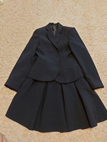 Школьный костюм 134 (юбка+пиджак)