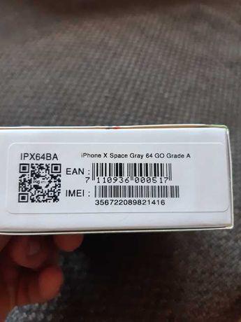 Iphone X Spacegray 64giga ODNOWIONY Zapakowany