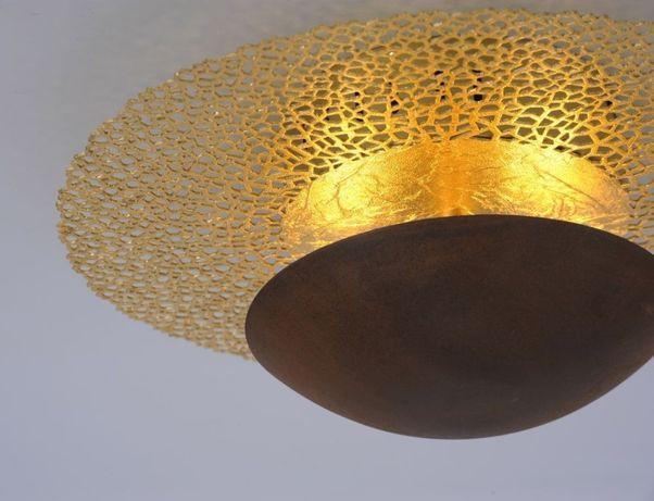 Dekoracyjna lampa kinkiet złota LED NEVIS ściemniacz Paul Neuhaus 6542