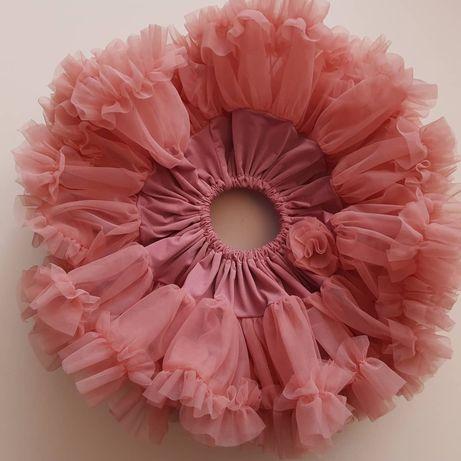 Spódniczka tutu na roczek pettitskirt brudny róż tiulowa