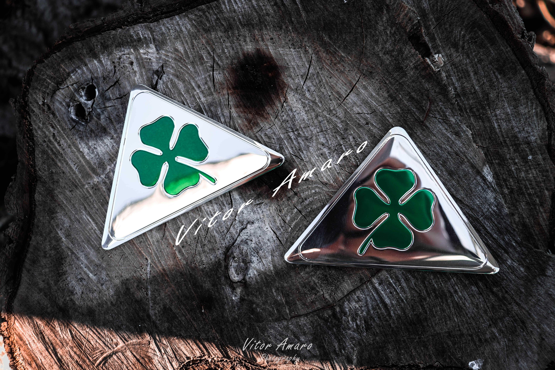 2 Símbolos/Logos em Alumínio Alfa Romeo Quadrifoglio | NOVOS