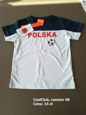 Koszulki z krótkim rękawem, chłopięce, rozmiar 98