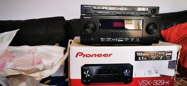 Pioneer AV Receiver VSX-329-K-HDMI-USB+ DVD Pioneer Player DV-410V HDM