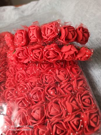 Квіти з фоамірану розочки , цвети с фоамирану