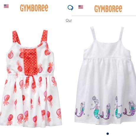 Белое платье сарафан Gymboree на девочку 4 года 2 вида