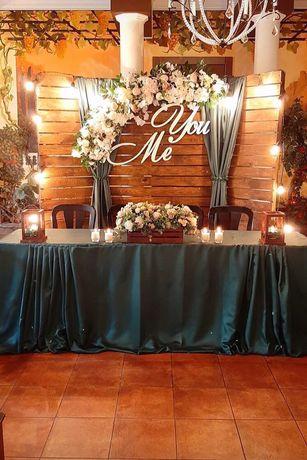 Свадебный декор, инициалы, монограммы, слова, буквы