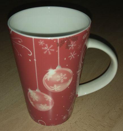 Duży kubek ceramiczny kubek świąteczny motyw bożonarodzeniowy nowy