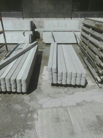 Slupki betonowe do siatki leśnej
