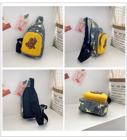 дитячий рюкзак детский с динозавром сумка на плечо бананка спайдермен