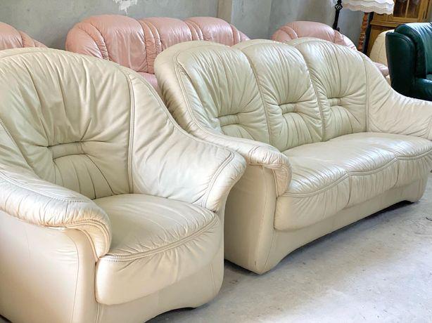 Шкіряний диван і крісло, шкіряні дивани, кожаный диван