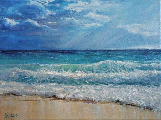 "Картина ""Seascape"" 2020 г., холст, масло 30х40 см."