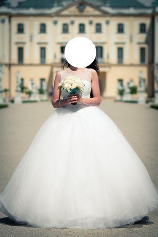 Suknia ślubna princessa - r. 36