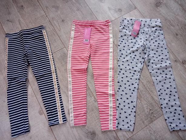 Spodnie legginsy r 122/128