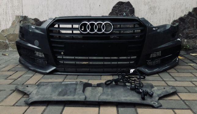 Бампер audi a6 c7 S-Line 2014- (Комплектный)