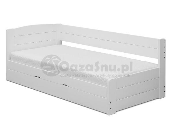 drewniane łóżko otwierane na bok ze skrzynią Loca 80x200