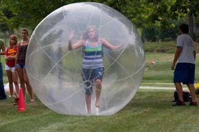 Aquaball Bola insuflável 2 metros crianças - NOVA