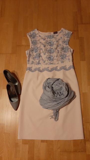 Sukienka koronkowa, suknia koronka, wesele, ślub rozm.44