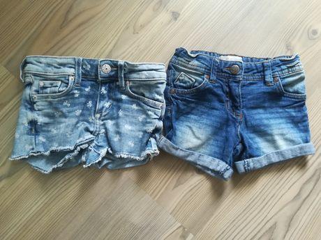 Szorty dżinsowe dziewczęce r.98/104 /h&m krótkie spodenki