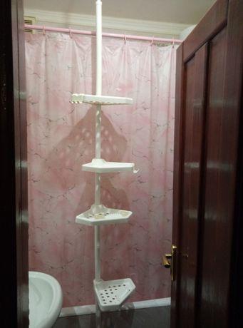 Полка угловая распорная\телескопическая для ванной