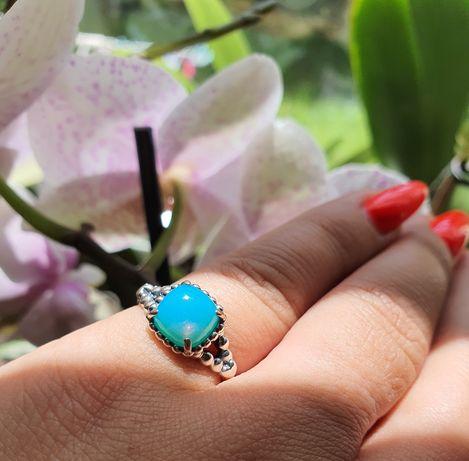 Pandora pierścionek niebieski kryształ oryginalny