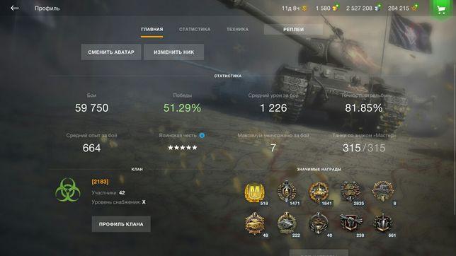 Продаю акаунт в World of tanks bliz