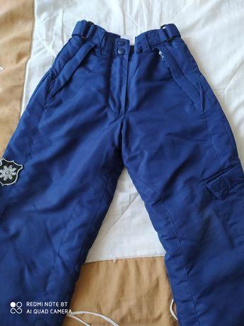 Spodnie ocieplane narciarskie + kurtka  rozm. 98-104