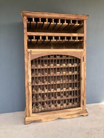 Piekna duza szafa na wino/winiarka/barek Loft lite drewno-teak