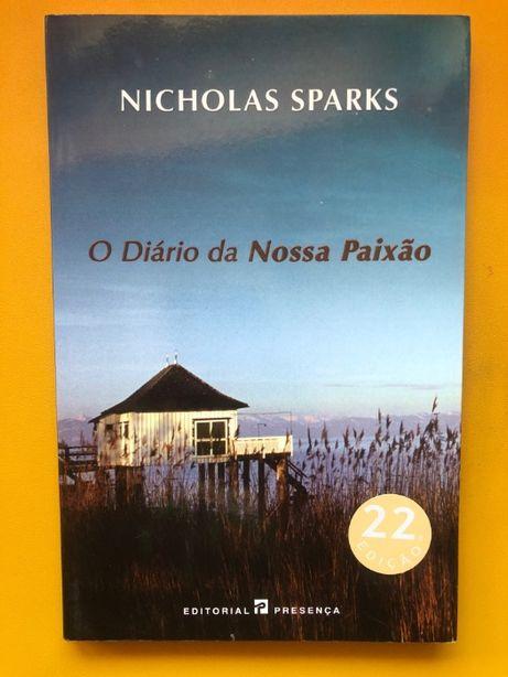 """Livro - """"O Diário da Nossa Paixão"""" de Nicholas Sparks (inclui envio)"""