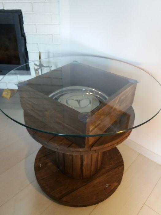 Stolik loft drewno szkło mercedes w123 w115 w124 w126 w140 Dorohusk - image 1