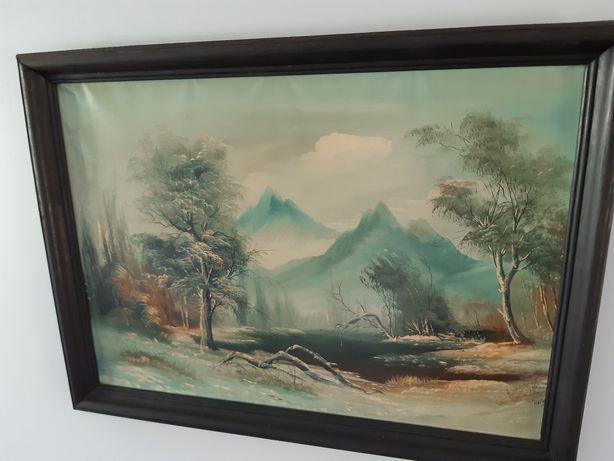 Obraz olejny góry rok 1996. Okazja