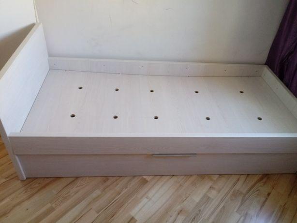 Łóżko białe + 2 materace 90x200