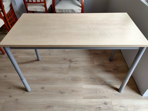 Biurko stół 120x60 cm regulowane nogi stan bardzo dobry