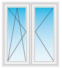 Okna PCV 180x150 śnieżna biel i ciepłe na lata PROMOCJA