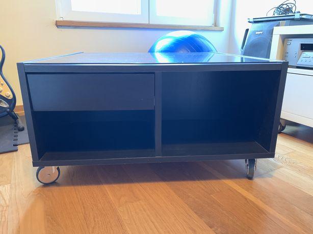 Mesa de vidro IKEA BOKSEL com rodizios