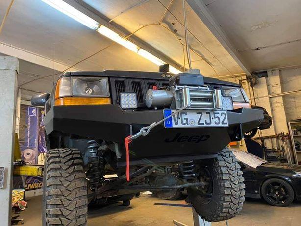 Zderzak stalowy offroad Jeep Grand Cherokee Zj pos wyciągarke