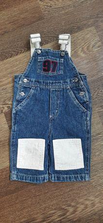 Комбинезон джинсовый на 9-12 месяцев