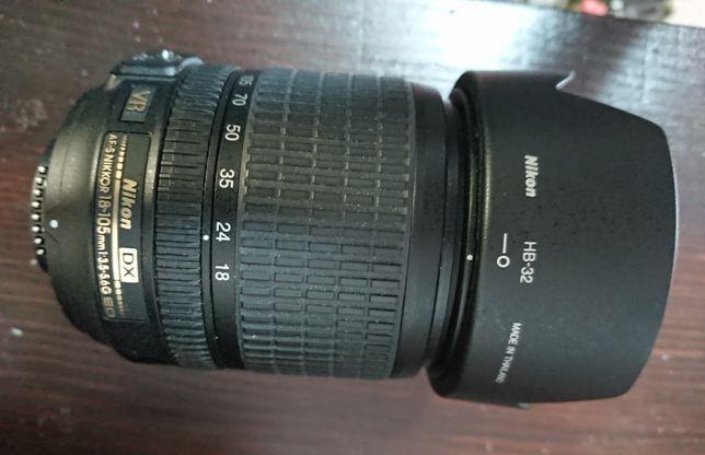 Obiektyw Nikon Dx AF-S nikor 18-105mm 3.5-5.6G ED możliwa zamiana