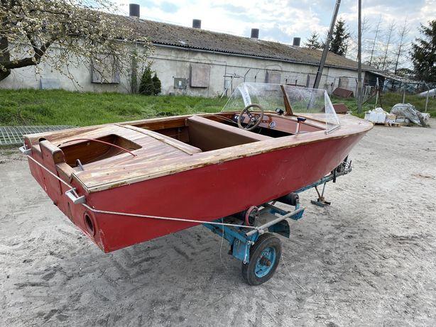 Motorówka oldschoolowa, bez silnika, do remontu