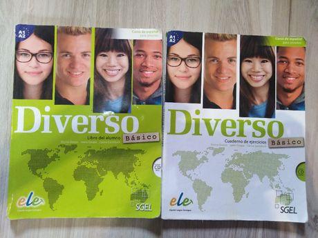 Diverso Basico A1+A2 Podręcznik z CD i Ćwiczenia z CD Język Hiszpański