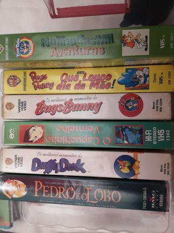 6 cassetes VHS infantis