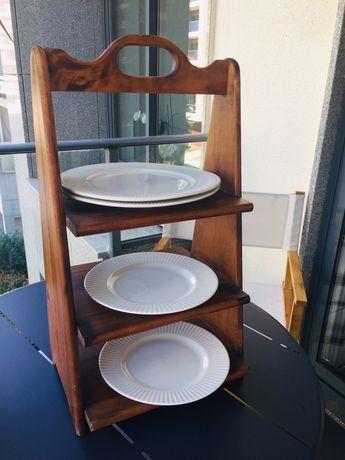 Porta pratos para Churrasco