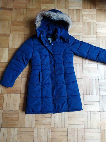 Kurka zimowa długa H&M dla dziewczynki rozmiar 140