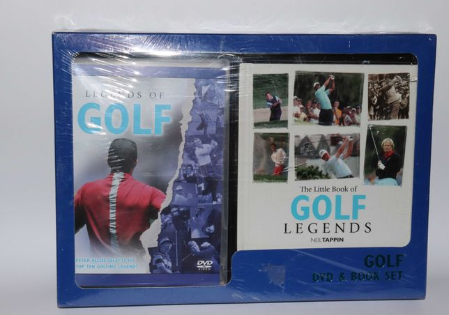 книга и Двд диск Легенды гольфа Golf legends Bhs  Англия винтаж