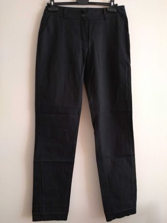 Spodnie czarne z bawełny
