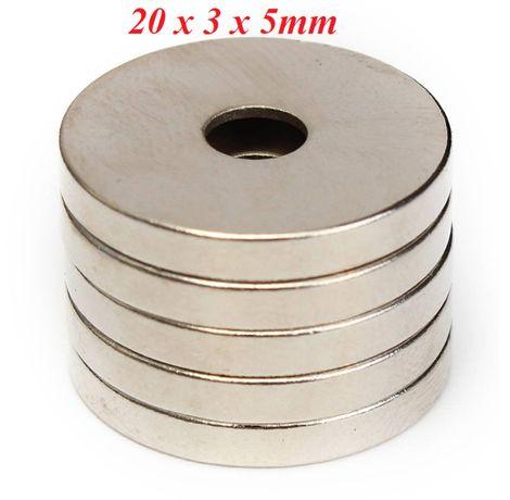 Magnes Magnesy neodymowe różne rodzaje Mocne pakowane po 5 sztuk