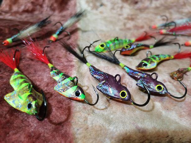 Рыболовные снасти (балансиры, грушки, тяжёлый джиг) цена за 1шт