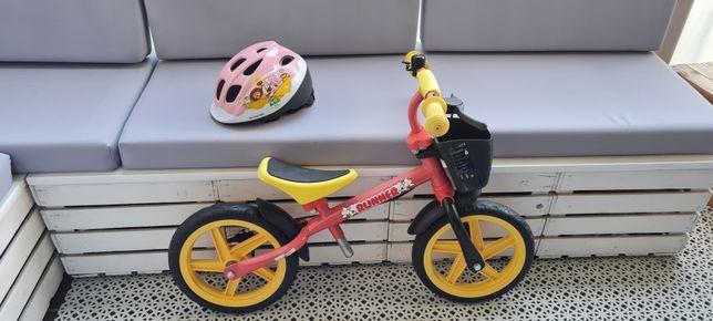 Rowerek biegowy + kask nowy