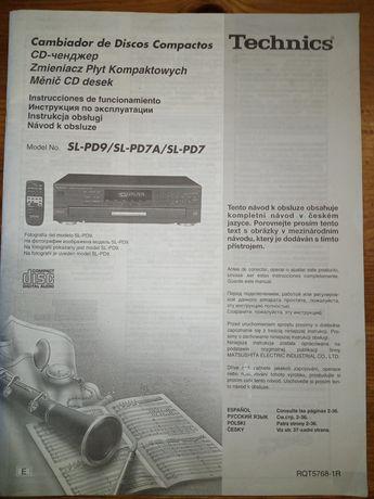 Instrukcja obsługi Technics zmieniacz płyt kompaktowych SL-PD9,SL-PD7A